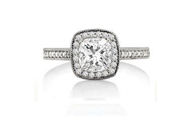 Browns Jewellers :: Platinum Pavé Set Georgian Diamond Ring