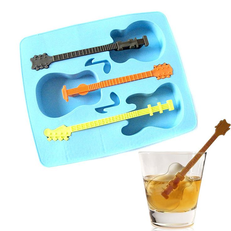 Creative Silicone Ice Guitar Modeling System of Three Ice Mold, Random Color