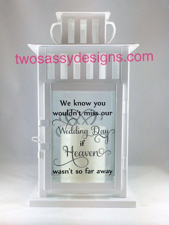 Memory Lantern Wedding Lantern Memory Table by TwoSassyDesigns
