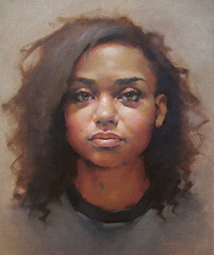 """Kayla"" - Jeff Haines, oil on canvas {contemporary figurative art female head woman face portrait painting} jeffhainesart.com"