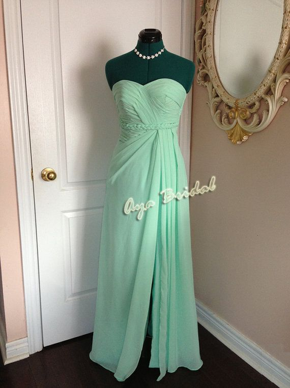 Long bridesmaid dress / strapless evening party dress by AyaBridal, $109.00 @Amy Davis
