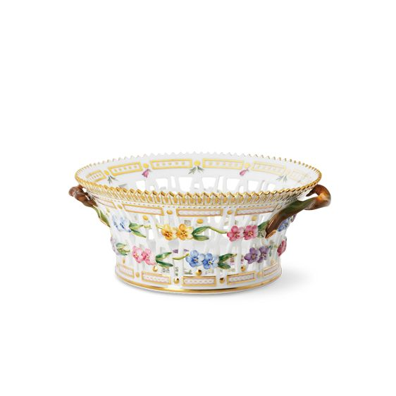 Royal Copenhagen Flora Danica Round Fruit basket 21,5 cm
