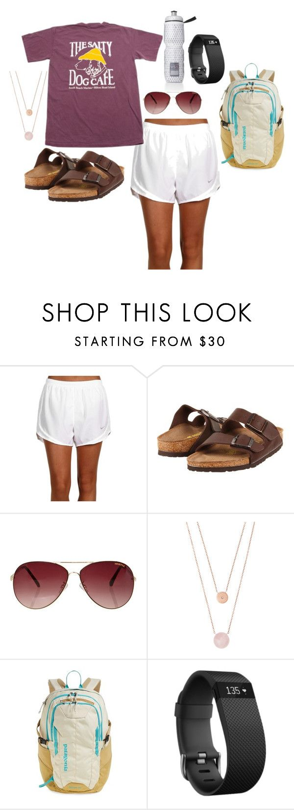 """""""campus casual"""" by morganmcghee on Polyvore featuring NIKE, Birkenstock, MINKPINK, Michael Kors, Victoria's Secret, Patagonia and Fitbit"""