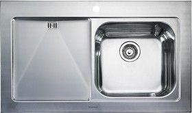 rangemaster mezzo > 1.0 bowl stainless steel sink, left hand drainer. - taps4less.com