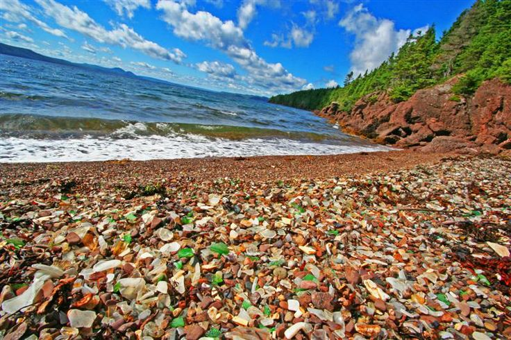 Glass beach, Springdale NL. It's on the site of an old dump, hence the carpet of beautiful beach glass!