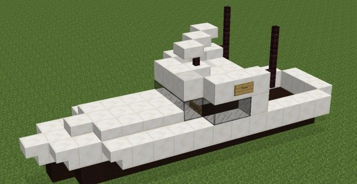 Police Boat From Gta San Andreas Minecraft Project Minecraft Minecraft Projects Minecraft Blueprints