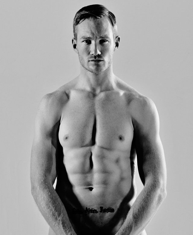 Greg Rutherford poses for Cosmopolitan to raise awareness of male cancer for Cancer Research UK. Cosmo UK May 2014.