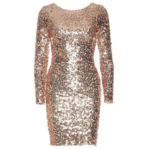 Tight Sequin Dress ❤ liked on Polyvore featuring dresses, brown dresses, sequin cocktail dresses, sequin dress, brown sequin dress and sequin embellished dress