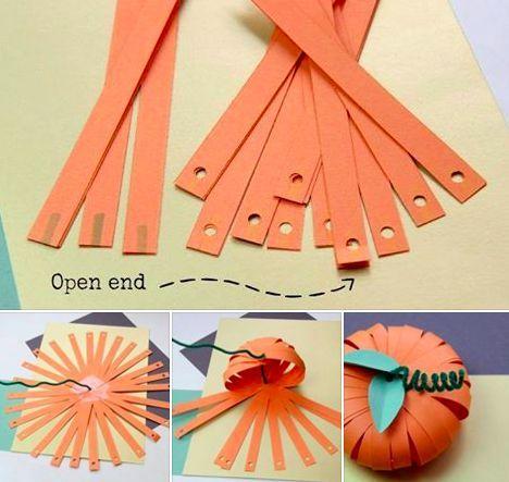 Fabriquer une citrouille en papier