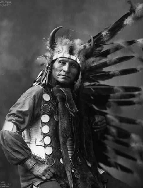 Little Horse, Oglala Sioux / copyright by Heyn Photo, Omaha, 1899