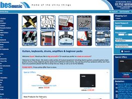 Vibes Music - Ecommerce Website