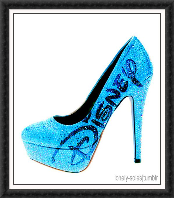 Disney heel...I would never buy these but would be cool if having a wedding at disney