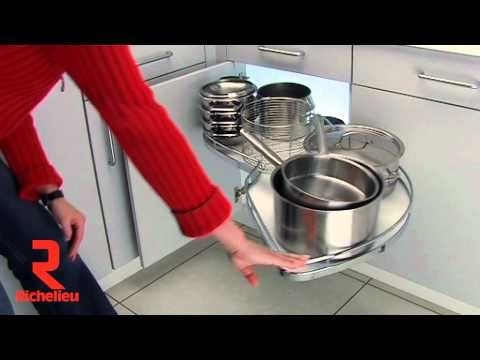 """Have you seen our """"LeMans"""" blind corner cabinet system in motion? When out this video of how it smoothly it moves in and out of the cabinet to provide full usage of that blind corner space!"""