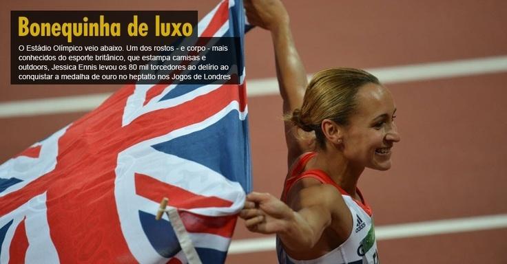 O Estádio Olímpico veio abaixo. Um dos rostos - e corpo - mais conhecidos do esporte britânico, que estampa camisas e outdoors, Jessica Ennis levou os 80 mil torcedores ao delírio ao conquistar a medalha de ouro no heptatlo nos Jogos de Londres