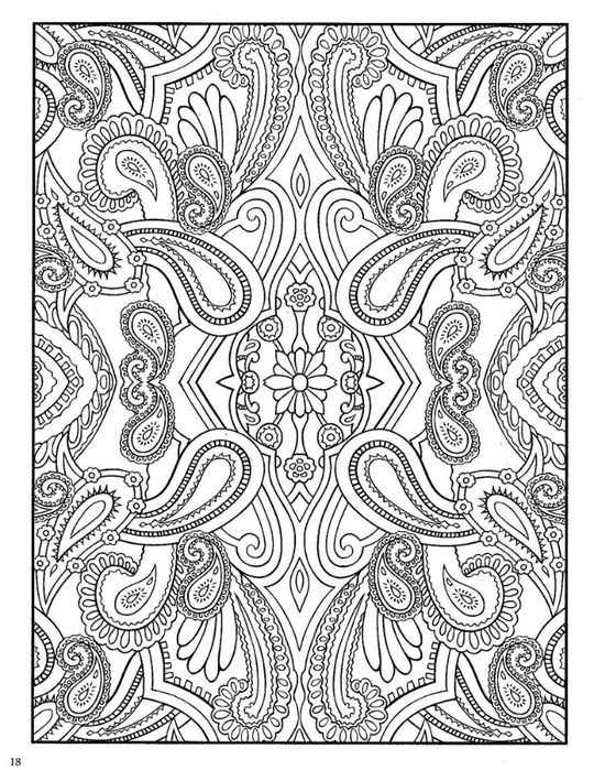 dover coloring pages paisley designs coloring book dover coloring book_page_20 540x700