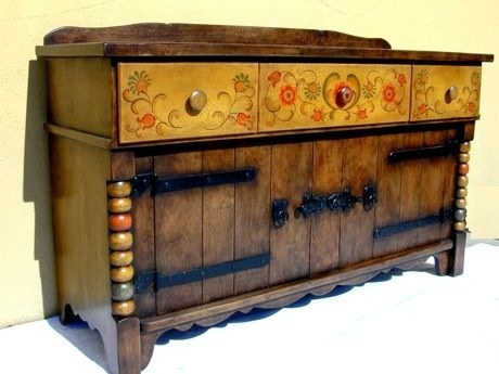 cabinets with strap hinges: Monterey Sideboard Buffet, Cal Style, California Style, Large Doors, Drawers, Guest Houses, Furniture, Classic Monterey, Doors W Irons
