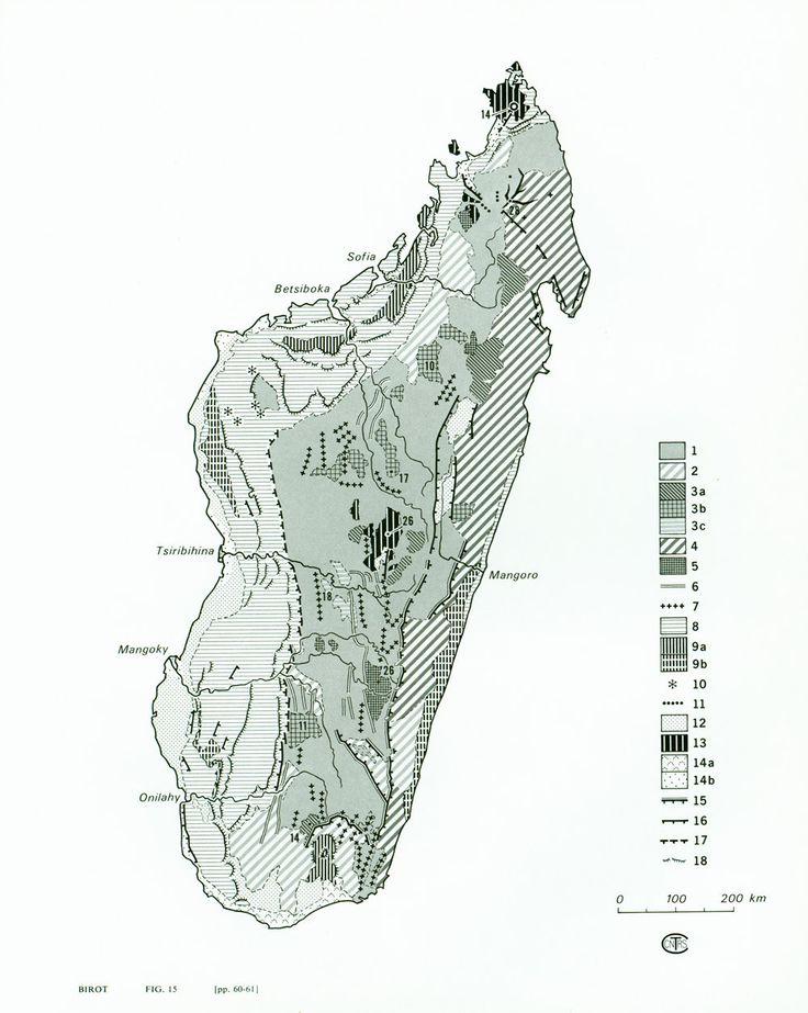 1970 Carte Géologique de Madagascar Géomorphologie de la boutique sofrenchvintage sur Etsy