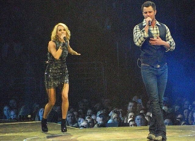 Carrie Underwood and Easton Corbin #thestorytellertour