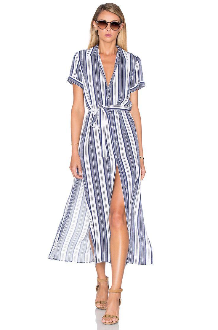 L'Academie The Maxi Shirt Dress in Sailor Stripe