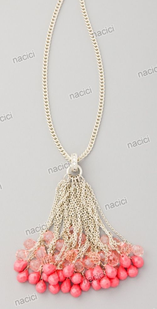 Beaded tassel necklace.