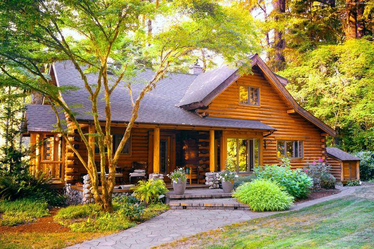 Dom, Drzewa, Ogród