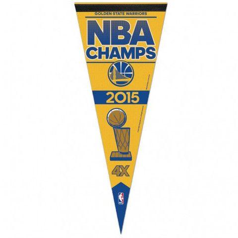 Golden State Warriors WinCraft 2015 NBA Finals Champions X Locker Room Celebration Pennant