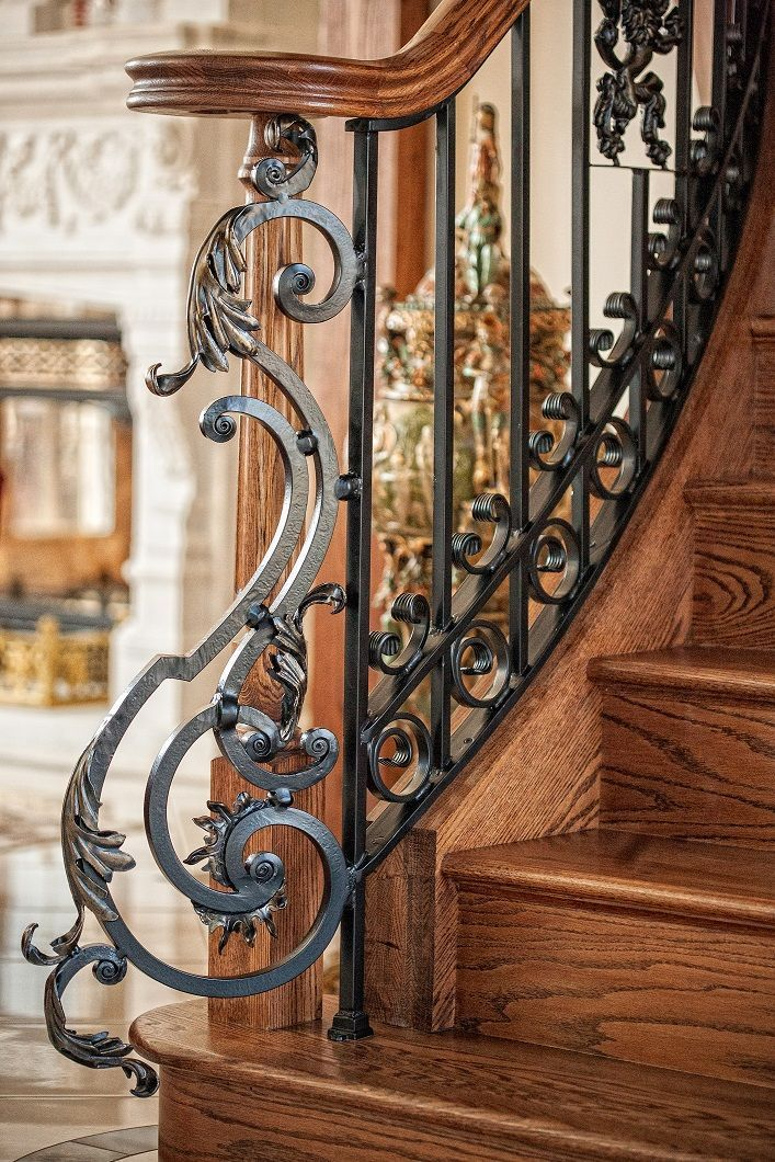 Ornate European Styled Railing European Ornate Railing Styled Stair Railing Design Iron Stair Railing Wrought Iron Stairs