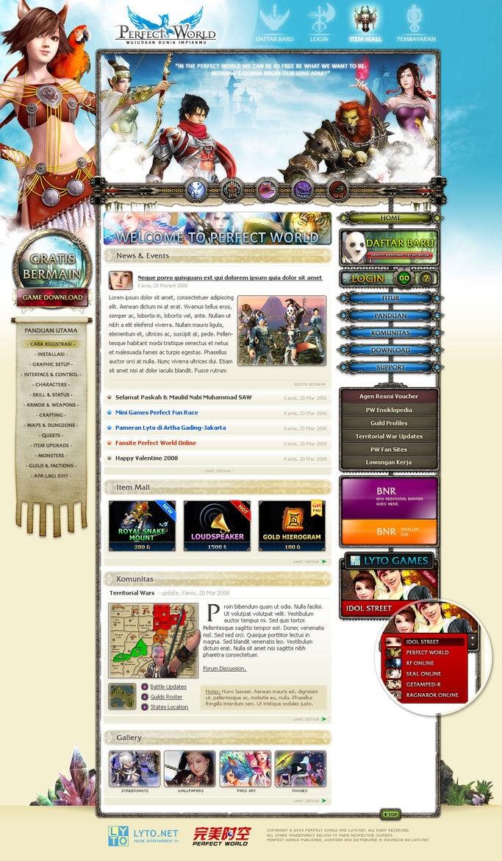 Layout photoshop web design website template tutorials tutorial 022 - Website Designs