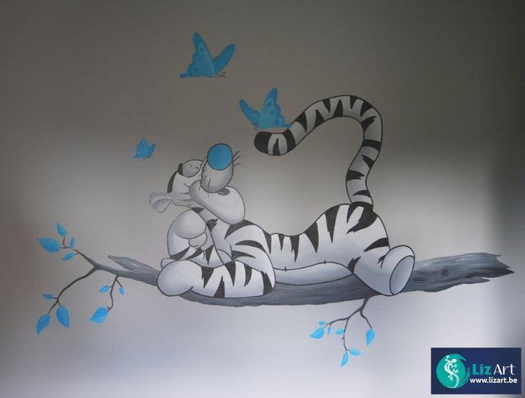 Behang Kinderkamer Vlinders : Babykamer Muurschildering