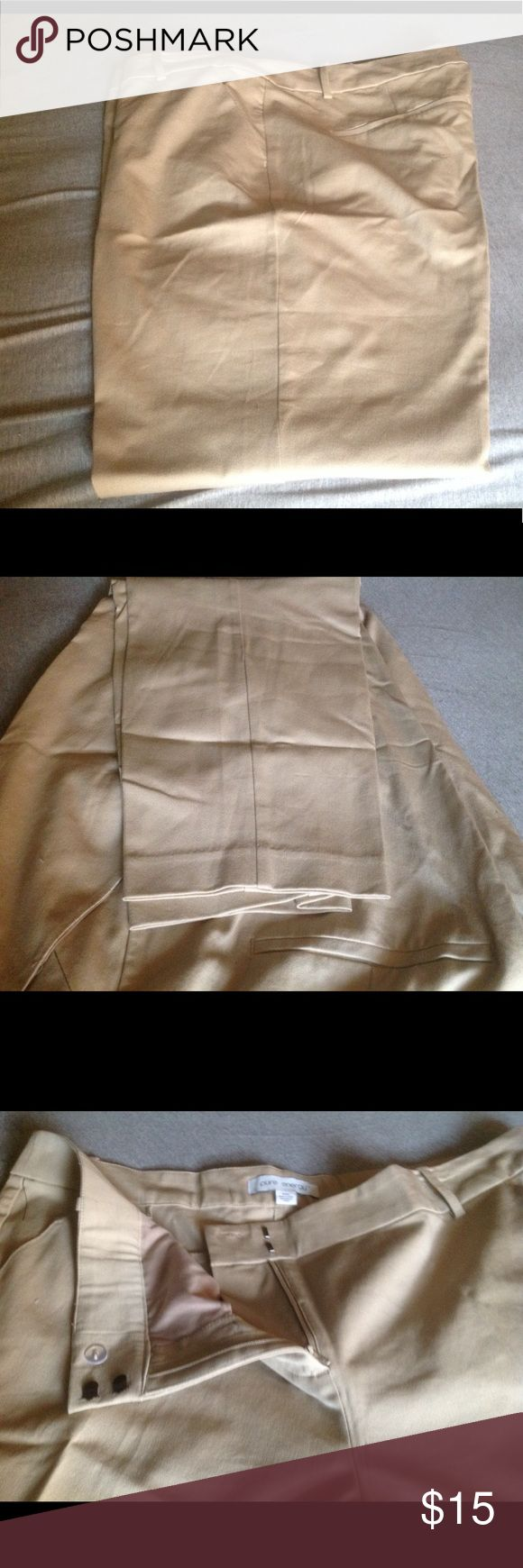 "NWOT khaki slacks 24W New, khaki slacks. Awesome stretch to them for comfort while sitting or bending. Flat front faux back pocket. Size 24W by pure energy 28"" inseam with tapered hem Pure Energy Pants Ankle & Cropped"
