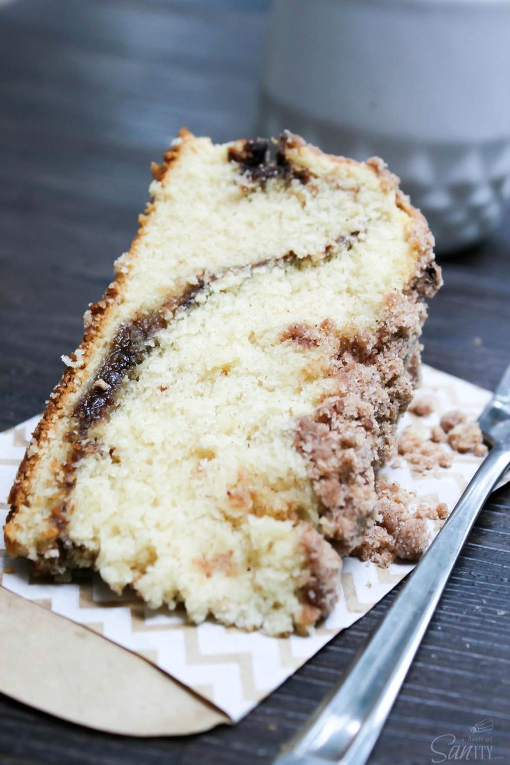 Copycat Starbucks Reduced Fat Cinnamon Coffee Cake | Start your day on a bright, sweet note with this coffee cake copycat!