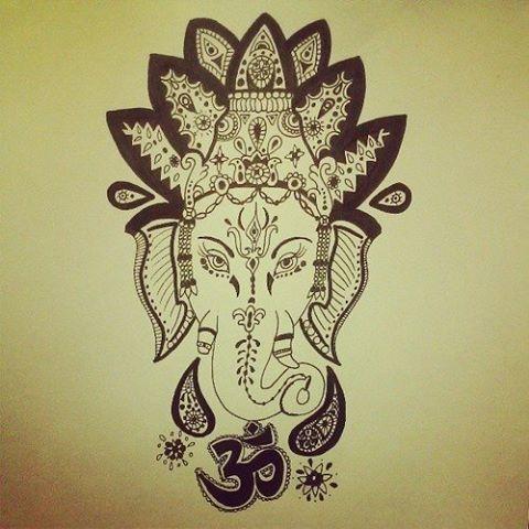 buddhist elephant god tattoo amazing via tumblr we heart it tatted up pinterest. Black Bedroom Furniture Sets. Home Design Ideas