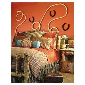 cowgirl bedroom decor the rope as a headboard is a brilliant idea