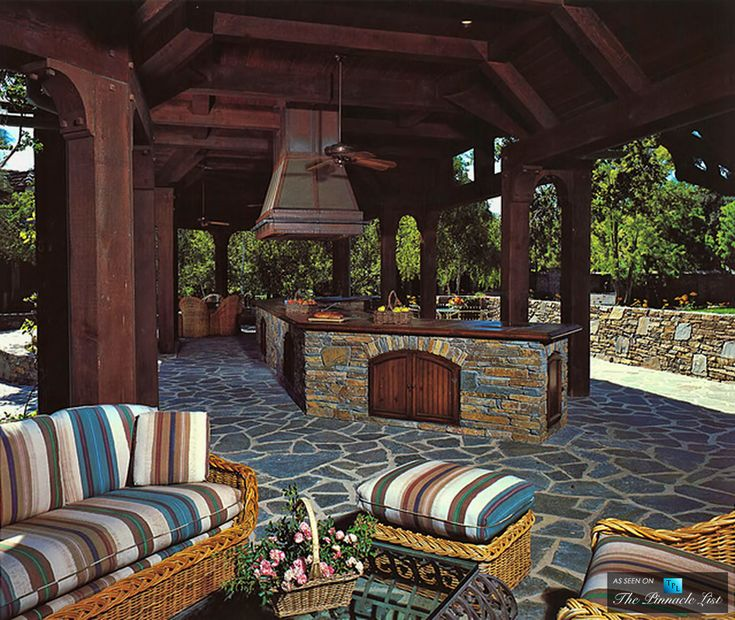 Outdoor Kitchen - Michael Jacksons Neverland Valley Ranch - 5225 Figueroa Mountain Road, Los Olivos, CA