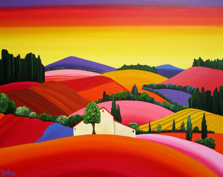 France ~ Brigitte Dehue ~ Colorful French (Burgundy) Countryside