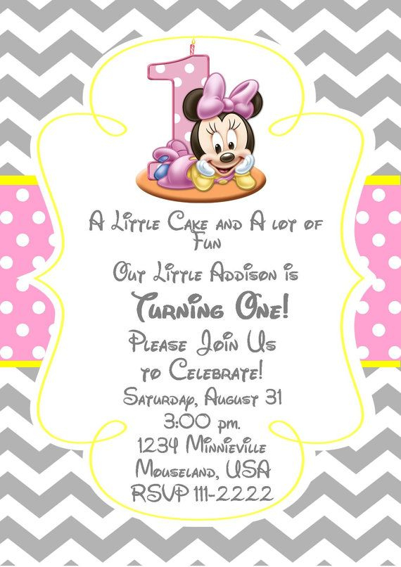 Minnie Mouse Inspired Invitation Pink and by PinkInkPartyBoutique, $8.99