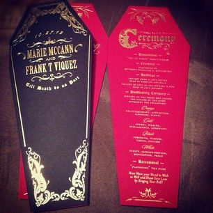 Die-Cut Coffin Halloween Programs
