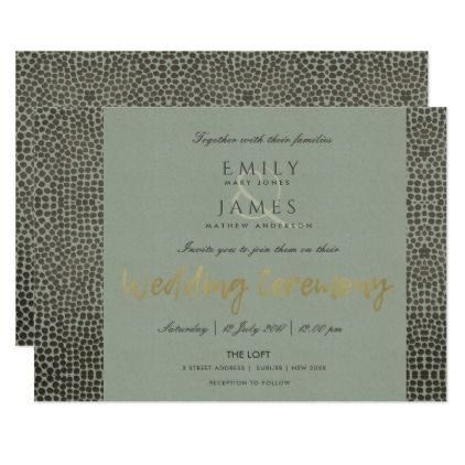 GLAMOROUS COPPER SILVER DOTS MOSAIC WEDDING CARD - invitations custom unique diy personalize occasions