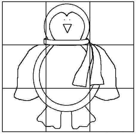 Werkblad visueel: pinguin