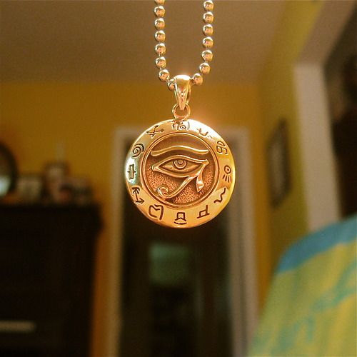 Nice amulet! Reminds me of the Kane Chronicles... I own am ankh necklace and I have to explain to the mortals ALL THE TIME WHAT IT IS. Frustration.
