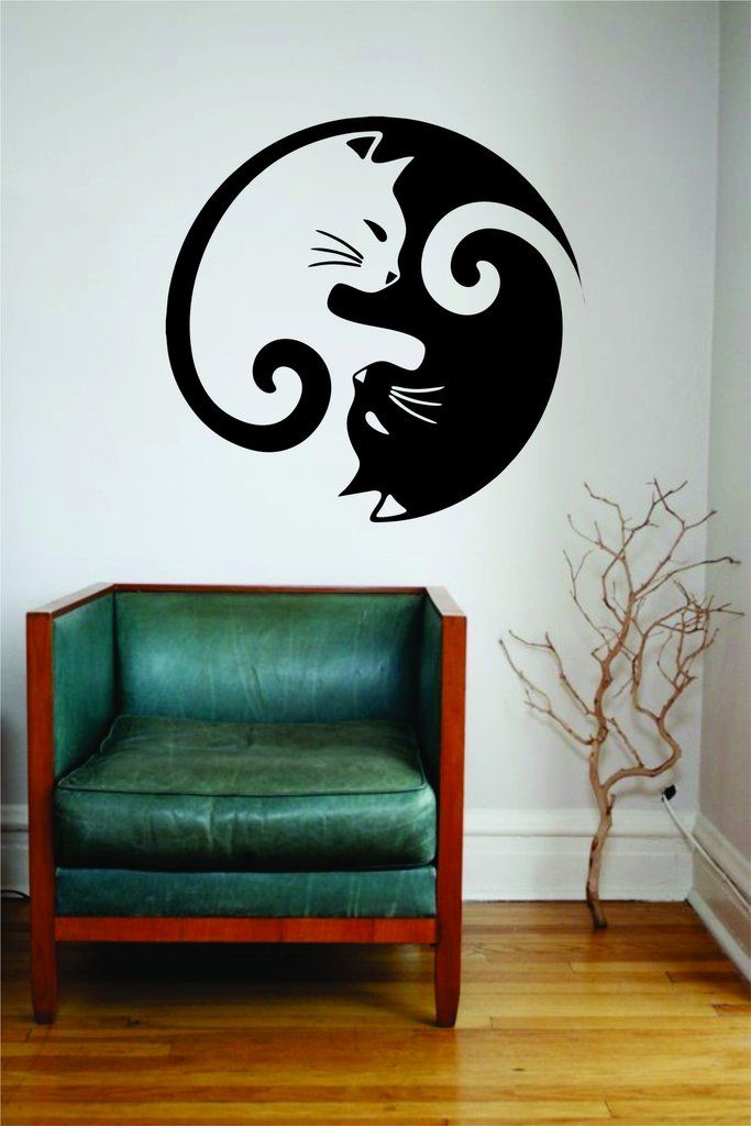 die besten 25 wall stickers yin and yang ideen auf pinterest yin yang bedeutung yin yang. Black Bedroom Furniture Sets. Home Design Ideas
