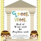END OF YEAR UNIT - Whether your students know nothing about Greece, or whether they have Greek academic standards, everyone will love this unit! This unit is designed to be used as a fun filled way to spend a couple of weeks learning about Greece/Aesop/Mythology/Olympics…$