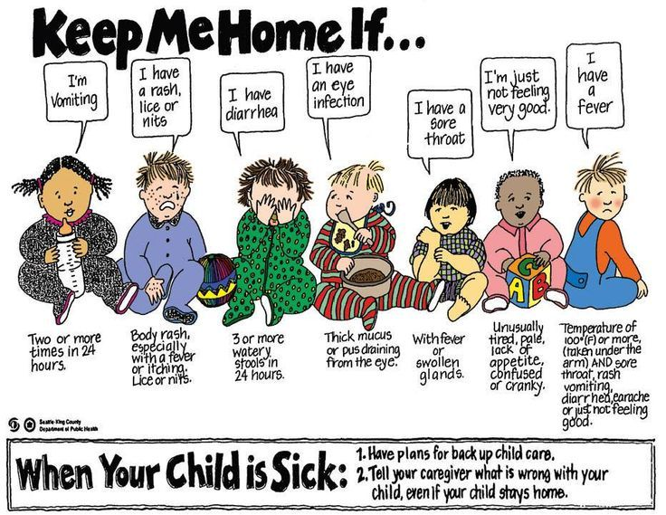 Image result for if your child is sick poster