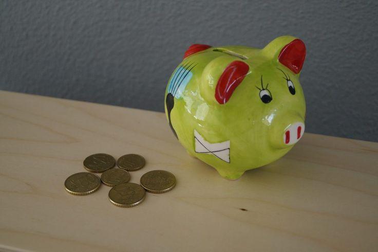 Sparen voor vakantie - kleingeld in een spaarpot #blogfeestje van: www.metmirjam.nl