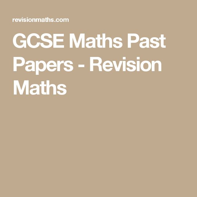 GCSE Maths Past Papers - Revision Maths