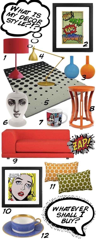 Comic Book, Pop Art, Ben-Day Dot, Roy Lichtenstein inspired Modern Decor.