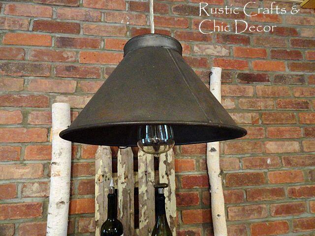 a homemade light diy using an antique sifter