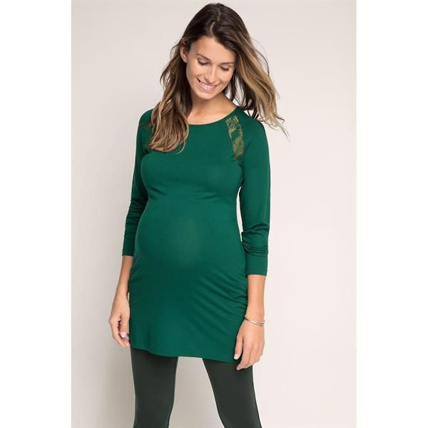 Groene zwangerschapstuniek van Esprit
