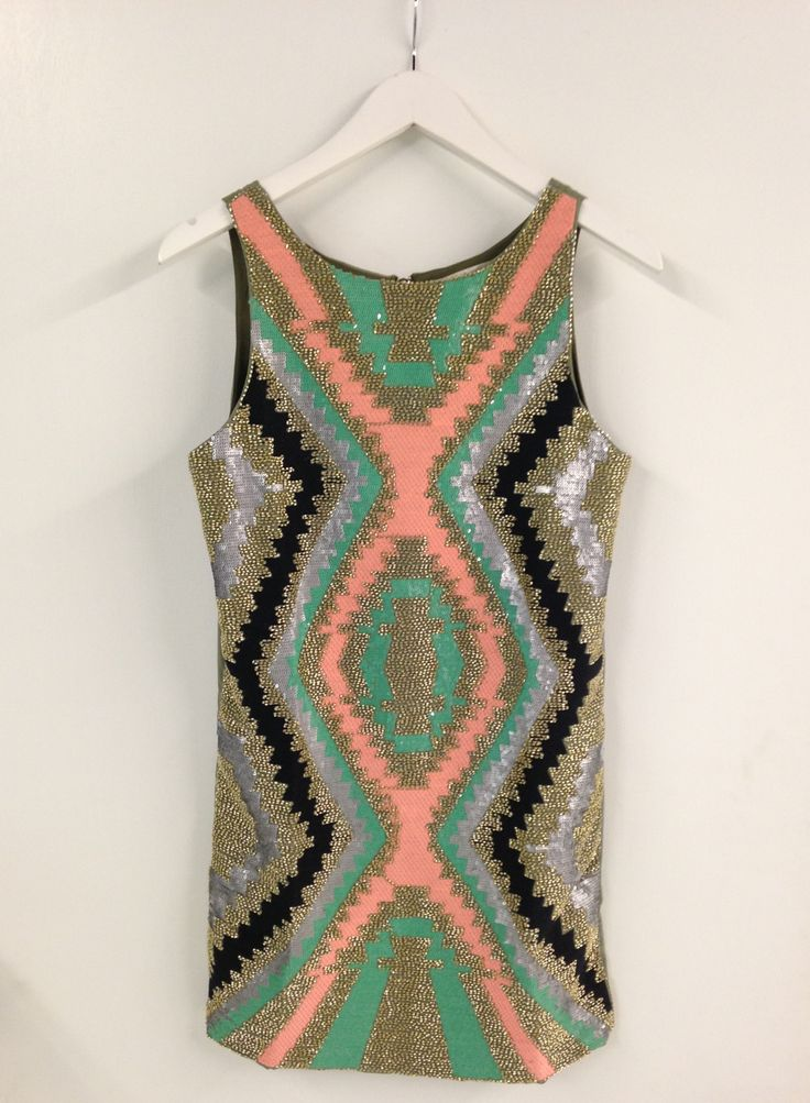 sequin aztec dress #swoonboutique