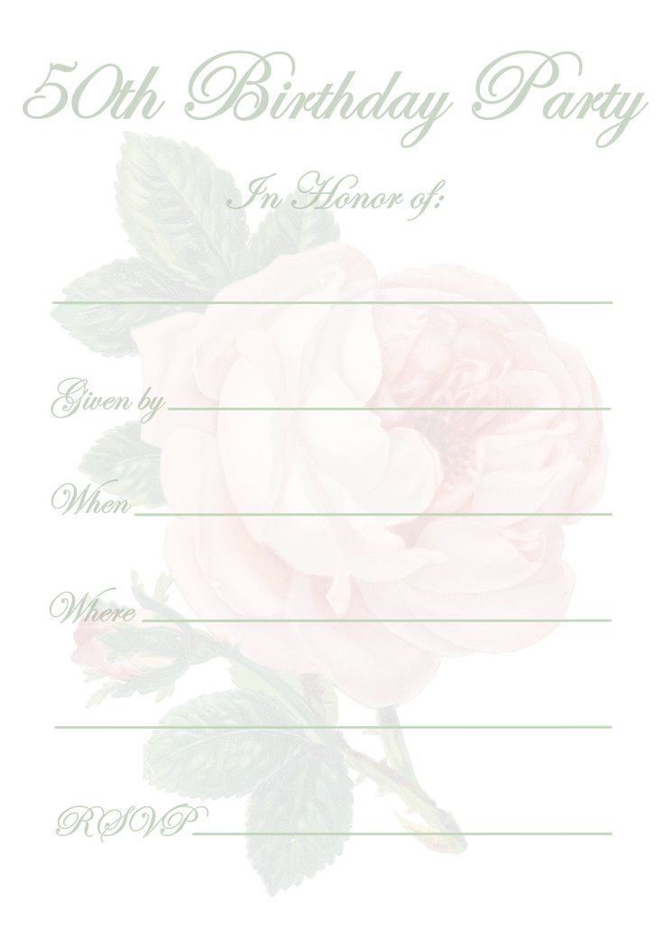 Free Printable 50th Birthday Party Invitation Templates ...